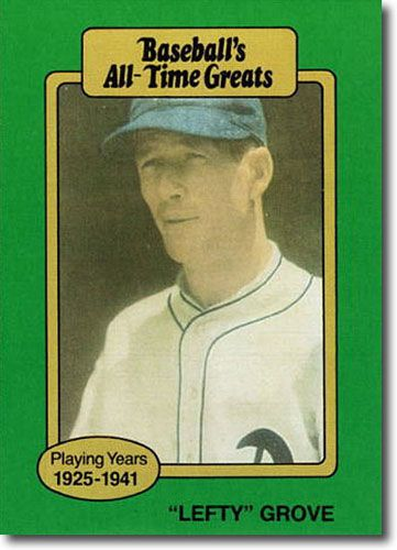 10-Count Lot 1987 Lefty Grove Hygrade All-Time Greats