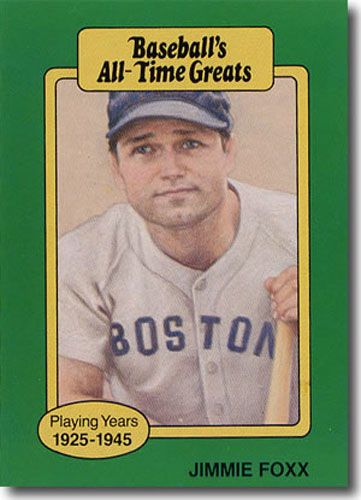 10-Count Lot 1987 JIMMIE FOXX Hygrade All-Time Greats