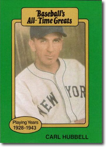 10-Count Lot 1987 Carl Hubbell Hygrade All-Time Greats