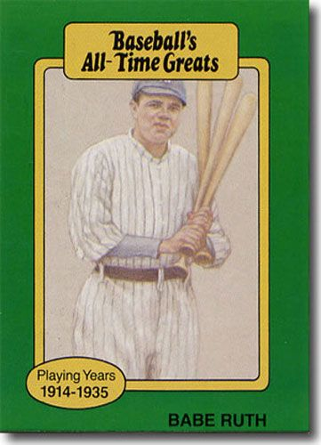 25-Count Lot 1987 BABE RUTH Hygrade All-Time Greats