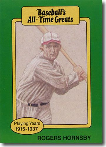 5-Count Lot 1987 ROGERS HORNSBY Hygrade All-Time Greats