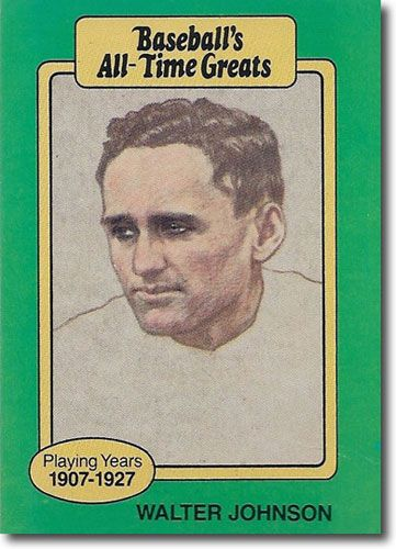 5-Count Lot 1987 WALTER JOHNSON Hygrade All-Time Greats