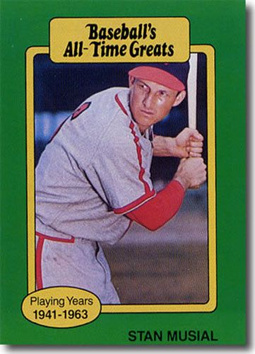 5-Count Lot 1987 STAN MUSIAL Hygrade All-Time Greats