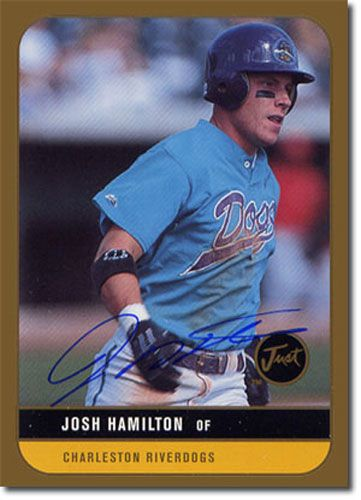 1999 JOSH HAMILTON Just Graded Autograph Rookie GOLD Auto RC ANGELS #/100