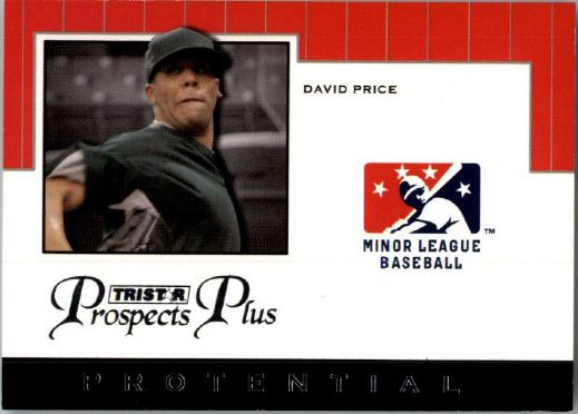 2007 * DAVID PRICE * TriStar Prospects Plus Rookie PROTENTIAL RC TIGERS
