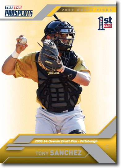 Tony Sanchez 2009 TriStar Rookie Mint RC