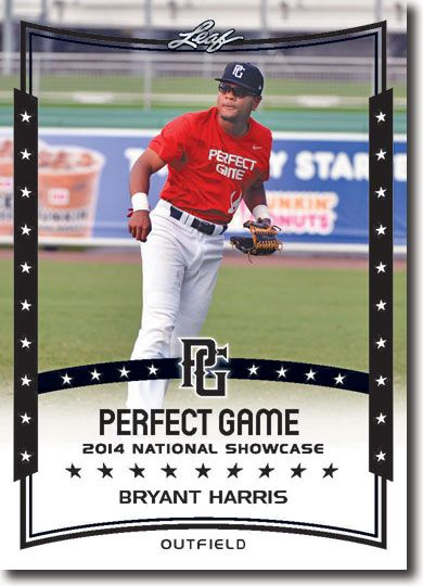 BRYANT HARRIS 2014 Leaf Perfect Game All-American SHOWCASE Rookie