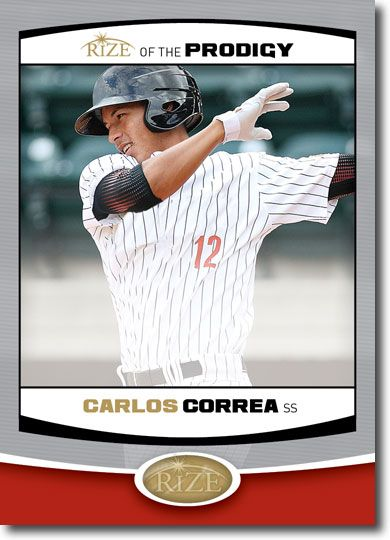 5-Count Lot CARLOS CORREA 2012 Rize Rookie PRODIGY RCs