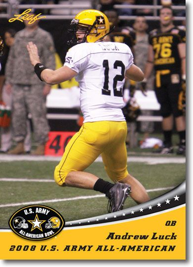 (25) 2012 ANDREW LUCK Leaf U.S. Army Aflac All-American RC's STANFORD