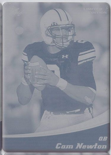 2011 Leaf NFL Limited CAM NEWTON Rookie Press Plate RC AUBURN 1/1
