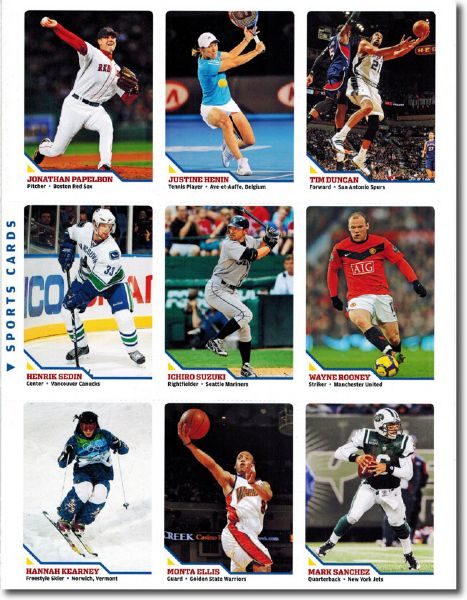 2010 Sports Illustrated SI for Kids #458 MONTA ELLIS Basketball Card UNCUT SHEET