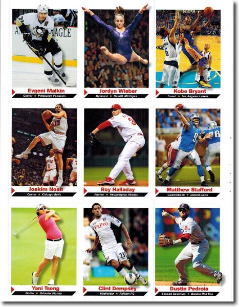 (10) 2012 Sports Illustrated SI for Kids #133 YANI TSENG Golf Rookie Cards