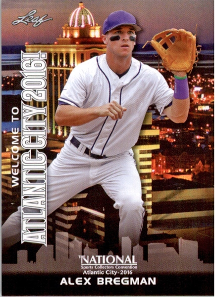 100-Ct Lot ALEX BREGMAN 2016 Leaf NSCC Booth Exclusive WHITE Rookie Cards
