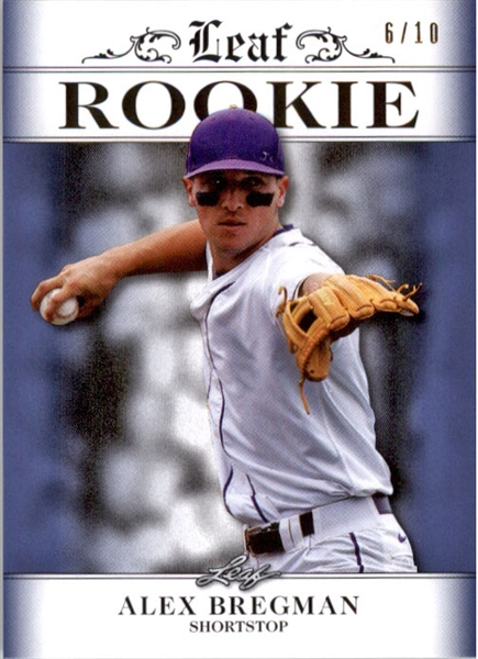 ALEX BREGMAN 2016 Leaf Rookies Exclusive BLUE Rookie Card #/10