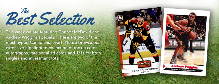 Certified Autographs is Featuring Connor McDavid and Andrew Wiggins